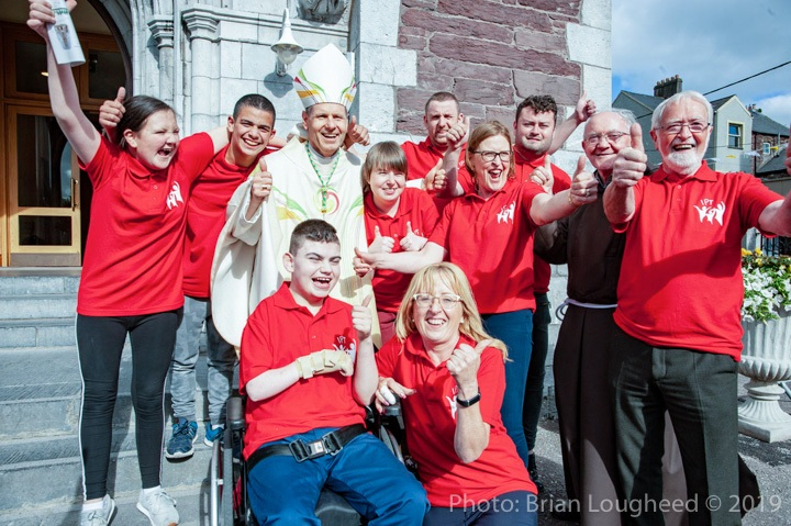 At the Episcopal Ordination of Fr. Fintan Gavin as Bishop of the Diocese of Cork & Ross at the Cathedral of St. Mary and St. Anne in Cork.Bishop Fintan Gavin with members of the Cork IPT Group 126 Children's Pilgrimage to Lourdes.Pic: Brian Lougheed