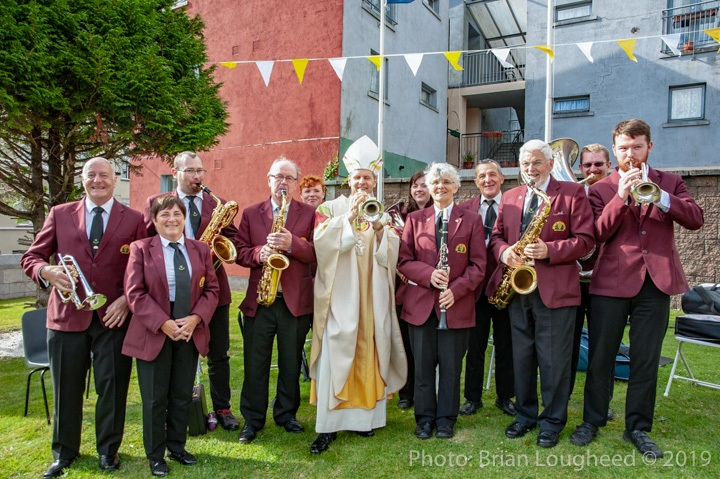 At the Episcopal Ordination of Fr. Fintan Gavin as Bishop of the Diocese of Cork & Ross at the Cathedral of St. Mary and St. Anne in Cork.Bishop Fintan Gavin with members of Cork's famous Butter Exchange Band.Pic: Brian Lougheed