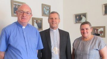 Bishop Fintan visits the Pastoral Development Office